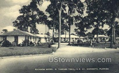 Rainbow Motel - Sarasota, Florida FL Postcard