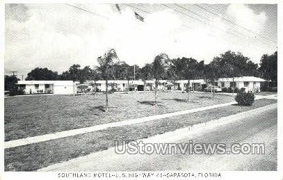 Southland Motel - Sarasota, Florida FL Postcard