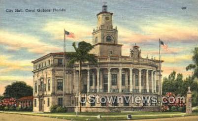 City Hall - Coral Gables, Florida FL Postcard