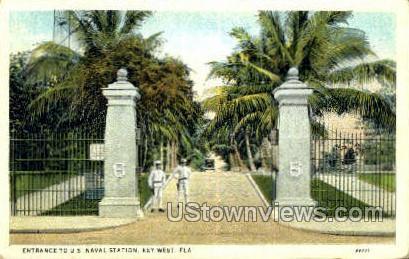 US Naval Station - Key West, Florida FL Postcard