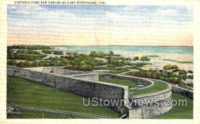 Fort San Carlos - Fort Barrancas, Florida FL Postcard