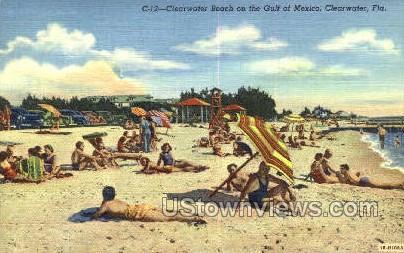 Clearwater Beach - Florida FL Postcard