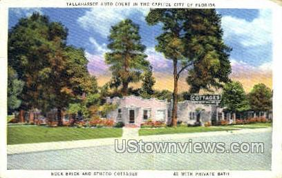 Stucco Cottages - Tallahassee, Florida FL Postcard