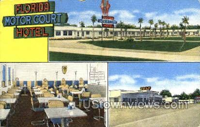 Motor Court Hotel - Tallahassee, Florida FL Postcard