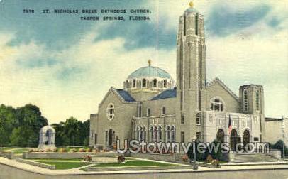 St Nicholas Greek Orthodox - Tarpon Springs, Florida FL Postcard