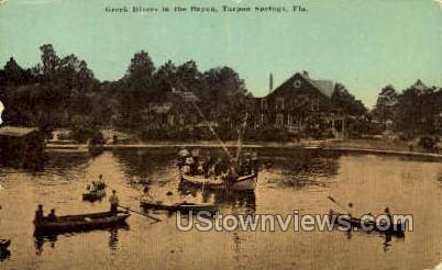 Greek Divers - Tarpon Springs, Florida FL Postcard