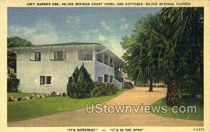 Silver Springs Court Hotel - Florida FL Postcard