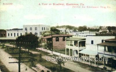 Broadway - Kissimmee, Florida FL Postcard