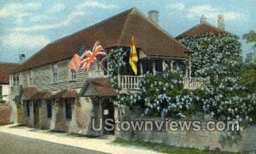 Oldest House - St Augustine, Florida FL Postcard