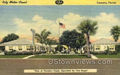 Ritz Motor Court - Sarasota, Florida FL Postcard