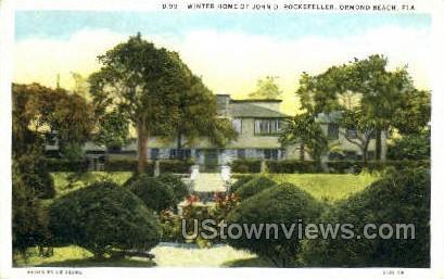Home of John D. Rockefeller - Ormond Beach, Florida FL Postcard