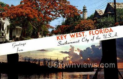 Key West, Florida, FL, Postcard
