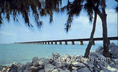 Seven Mile Bridge - Key West, Florida FL Postcard
