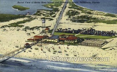 Santa Rosa Island - Pensacola, Florida FL Postcard