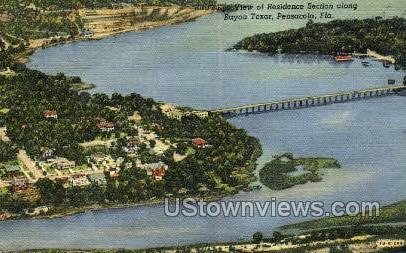 Bayou Texar - Pensacola, Florida FL Postcard