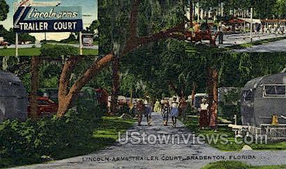 Lincoln Arms Trailer Court - Bradenton, Florida FL Postcard