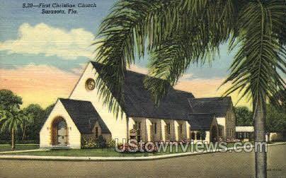 First Christian Church - Sarasota, Florida FL Postcard