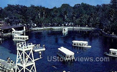 Boats - Silver Springs, Florida FL Postcard
