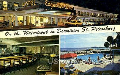 Edgewater Beach Motel - St Petersburg, Florida FL Postcard