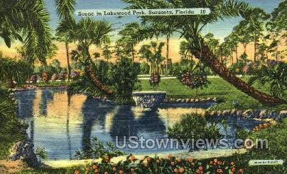 Lakewood Park - Sarasota, Florida FL Postcard