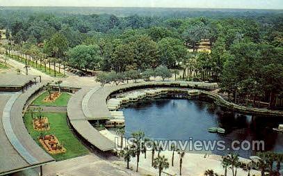 Bird's Eye View - Silver Springs, Florida FL Postcard