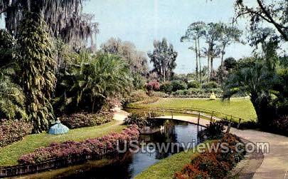 Waterway & Paths - Cypress Gardens, Florida FL Postcard