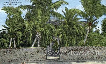 Home of Ernest Hemingway - Key West, Florida FL Postcard
