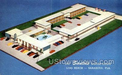 Suntide Motor Court - Sarasota, Florida FL Postcard
