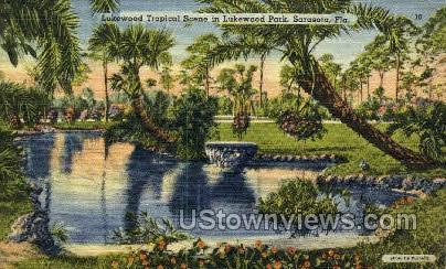 Lukewood Park - Sarasota, Florida FL Postcard