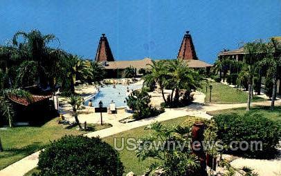 Tahitian Motor Lodge - Tarpon Springs, Florida FL Postcard