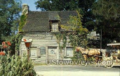 Wooden Schoolhouse - St Augustine, Florida FL Postcard