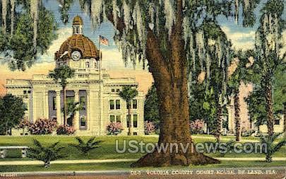 Volusia County Court House - De Land, Florida FL Postcard