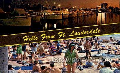 Bahia Mar Marina - Fort Lauderdale, Florida FL Postcard