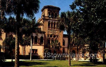 John Ringling Residence - Sarasota, Florida FL Postcard