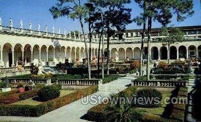 Italian Garden - Sarasota, Florida FL Postcard