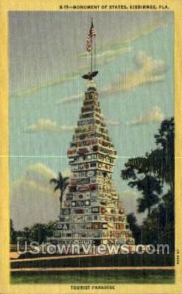 Monument of States - Kissimmee, Florida FL Postcard