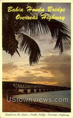 Bahia Honda Bridge - Key West, Florida FL Postcard
