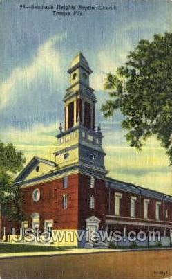 Seminole Heights Baptist Church - Tampa, Florida FL Postcard