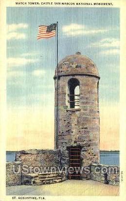 Castle San Marcos - St Augustine, Florida FL Postcard