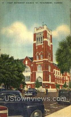 First Methodist Church - St Petersburg, Florida FL Postcard