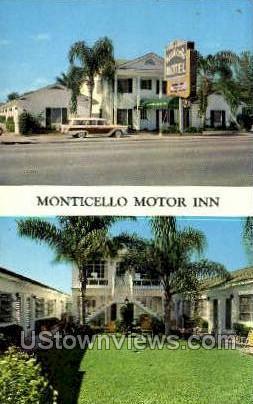 Monticello Motor Inn - St Petersburg, Florida FL Postcard