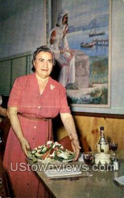 Louis Pappas Riverside Cafª - Tarpon Springs, Florida FL Postcard