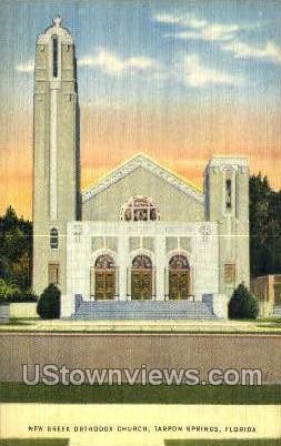 Greek Orthodox Church - Tarpon Springs, Florida FL Postcard