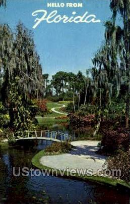 Floral Beauty - Cypress Gardens, Florida FL Postcard
