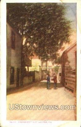 Narrow Street - St Augustine, Florida FL Postcard