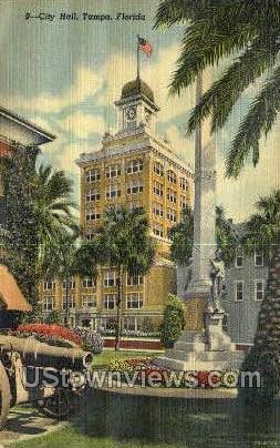 City Hall - Tampa, Florida FL Postcard
