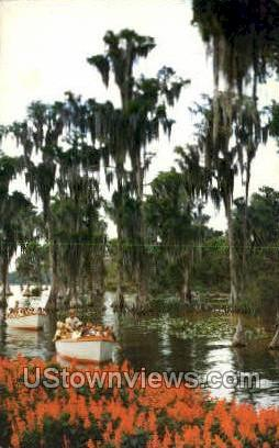 Boats - Cypress Gardens, Florida FL Postcard