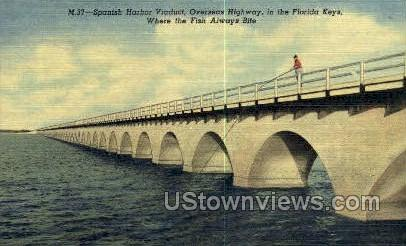 Spanish Harbor - Florida Keys Postcards, Florida FL Postcard