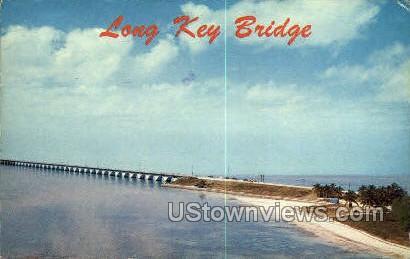 Long Key Bridge - Florida Keys Postcards, Florida FL Postcard
