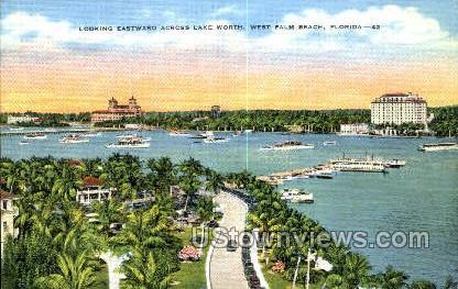 Lake Worth - West Palm Beach, Florida FL Postcard